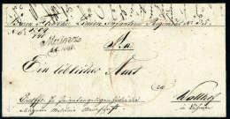 Schwarzer L1 Mainz 11.NOV. Klar Auf Vollständigem Faltbrief (1840) Nach Wallhof In Böhmen. - Stamps