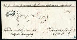 Schwarzer K.K.ö.M.P.Mainz Deutlich Auf Vollständigem Faltbrief (1836) Nach Purkersdorf. Provenance:... - Stamps