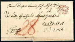 Roter K.K.OEST.MILIT.POST 12 FEB. 1821 Mainz Recht Klar Auf Vollst. Faltbrief Nach Niederösterreich. Seltener... - Stamps