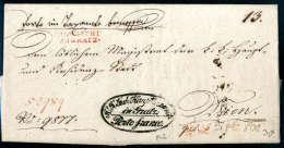 LANDRECHT ZU GRATZ, Roter L2 Auf Vollst. Faltbrief (1830) Mit Ovalem Portofreiheitsstempel Des Haupttaxamtes Zu... - Stamps