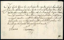 Beleg Kaiserinbrief, Maria Theresia (1717-1780), Briefinhalt Aus Wien 1761 An Graf Von Harsch Mit... - Stamps