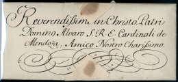 Kaiserinbrief, Maria Theresia (1717-1780), Vollständiger Faltbrief Aus Wien (1753) An Kardinal Mendozza. - Stamps