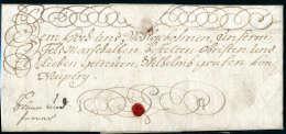 Kaiserin-Brief: Maria Theresia, Vollst. Faltbrief 1741 An Feldmarschall Neipperg. Maria Theresia War Königin... - Stamps