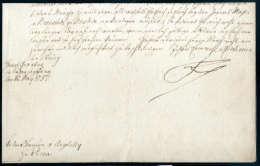 Beleg Friedrich II Der Große Von Preussen (1712-1786), Inhalts-Brief Aus Prag 1757 An Oberst De Malvezzi Aus... - Stamps