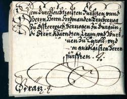 Beleg Vollst. Schnörkelbrief Von Kardinal Franz Von Dietrichstein An Erzherzog Ferdinand II (später... - Stamps