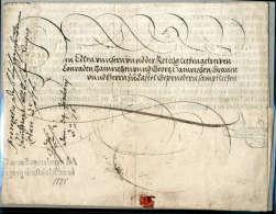 Kaiserbrief, Maximilan II (1527-1576), Vollständiger, Faltbrief (1575) An Die Gebrüder Hainrichsen. - Stamps