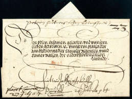 Kaiserbrief, Ferdinand I (1503-1564), Vollständiger Faltbrief Aus Wien 1564 An Den Kanzlerregenten Von... - Stamps