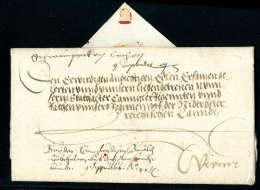 Kaiserbrief, Vollst. Faltbrief Von Ferdinand I (Bruder Karl V) Aus Worms (1545) Nach Wien. - Stamps
