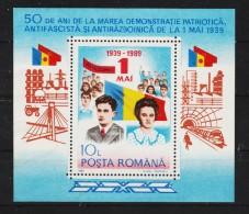 1989 - Cinquantenaire Du 1 Mai / CEAUSESCU   Mi No 252 Et Yv No 201 MNH - 1948-.... Républiques