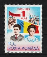 1989 - Cinquantenaire Du 1 Mai / CEAUSESCU   Mi No  4545 MNH - 1948-.... Republics