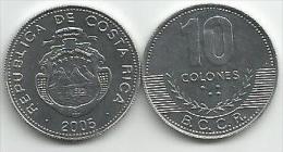 Costa Rica 10  Colones 2005. High Grade - Costa Rica