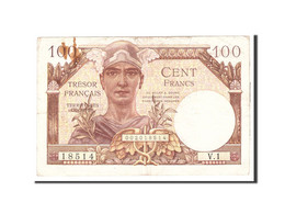 France, 100 Francs, 1955, Undated, KM:M9, TTB, Fayette:VF34.1 - Treasury