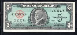 CUBA 1960. 5 PESOS. MAXIMO GOMEZ.   EBC   B880 - Cuba