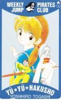 TARJETA DE JAPON DE MANGA DE YU YU HAKUSHO  (COMICS-DIBUJOS) 110-011 - Cómics