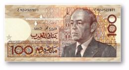 MOROCCO - 100 DIRHAMS - 1987 ( Ca. 1991 ) - Pick 65.b - Sign. 11 - King Hassan II - Kingdom - Maroc - Bank AL-MAGHRIB - Maroc