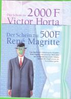 500-2000 Belgische Franken In GERMAN- Brochure (2) - Belgium