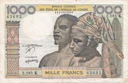 1000 Fr - BCEAO - Type 1960 - États D'Afrique De L'Ouest
