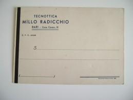 BARI  1943  DA  MILANO  CARTOLINA  REFERENZE  TECNOTTICA MILLO  RADICCHIO   OTTICO   NON  VIAGGIATA  COME DA FOTO - Negozi