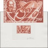 Niger 1970 Y&T PA 125. Épreuve D´artiste. Rétrospective De L'espace. Galilée Nom Francisé De L'astronome Galileo Galilei - Astronomy