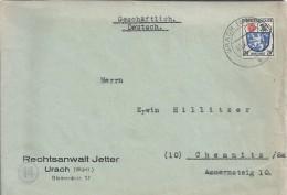 Urach.Schreiben Censored 14. Stamps French Zone. Circular 9/81946.Rund 9/81946. - Zone Française