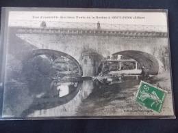 Vue D Ensemble Des Deux Ponts De La Besbre à Sept Fons Allier - Francia