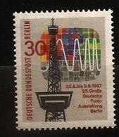 Allemagne Berlin 1967 N° 284 ** Télécommunications, Radio, Télévision, Ondes, Antenne, Sinusoïde, Tour Eiffel, Fréquence - [5] Berlin
