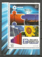 Balance Energetico En Uruguay (Ministerio De Industria, Energía Y Minería) 2 Timbres Neufs ** Año 2015 - Uruguay