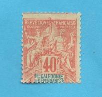 NOUVELLE CALEDONIE N°50 (*) (YT) 40c. TYPE GROUPE COTE 30 EUROS PHOTOS R/V - Neufs