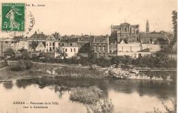 CPA-1910-62-ARRAS-PANORAMA Vers La CATHEDRALE-TBE - Arras