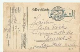 -DR GS 1916  FELDPOST - Cartas