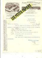 26 - Drôme - PIERRELATTE - Facture CHAUVET - Scierie - Commerce De Bois – 1931 - REF 243 - 1900 – 1949