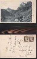 7067) PIEMONTE CUNEO CRISSOLO LAGO FIORENZA VISO MOZZO MONVISO E VISOLOTTO VIAGGIATA 1935 CIRCA - Cuneo