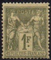 FRANCE - 1 F. Olive Neuf - 1876-1898 Sage (Type II)