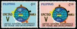 Philippines, 1979, UNCTAD, Trade, Development, United Nations, MNH, Michel 1279-1280 - Philippines