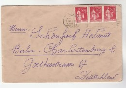 1935 Lyon Gare FRANCE  Stamps  COVER To Germany - France