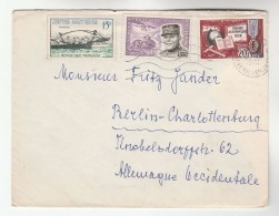 1961 FRANCE  COVER Stamps ESTIENNE TANK AIRCRAFT, PALMES ACADEMIC, WATER JOUSTING To  Aviation - Covers & Documents