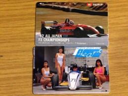 2 Nice Motor Sport Cards - Formula 3 Japan 105u.  - No110-011 + 110-127863 - Fine Used - Japan
