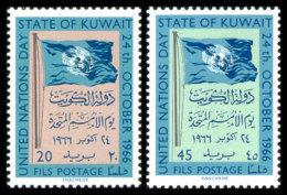 Kuwait, 1966, United Nations Day, MNH, Michel 331-332 - Koweït