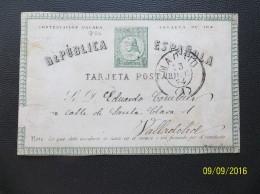 Espana: 1874 Postal Card To (?), Faulty (#WF17)
