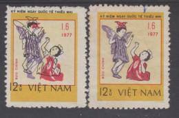 VIETNAM  1977  ERROR COLOR SHIFTED CHILDREN+BUTTERFLY  SCOTT  N°925  **MNH  Réf 0351A - Papillons