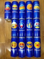 Collection Of 13 Vietnam Viet Nam Pepsi 330ml Slim Cans / Opened By 2 Holes - Cannettes