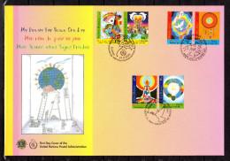 """ONU 2005 (Les 3 Centres) : Belle Enveloppe 1er Jour FDC Jumbo (260 X 180 Mm) """" MON REVE DE PAIX COLOMBE """" Parfait état - Pigeons & Columbiformes"""