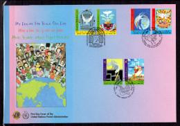 """ONU 2006 (Les 3 Centres) : Belle Enveloppe 1er Jour FDC Jumbo (260 X 180 Mm) """" MON REVE DE PAIX COLOMBE """" Parfait état - Pigeons & Columbiformes"""