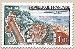 N° 1355 Le Touquet Paris-Plage Faciale 1,00 F - Ungebraucht