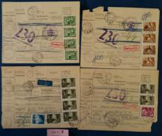 LOTTO 4 BOLLETTINI PACCHI UNGHERIA - Parcel Post