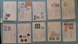 LOTTO 10 BOLLETTINI PACCHI POSTALI ITALIA AFFRANCATURE MISTE (XB22 - Colis-postaux