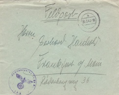 Feldpost WW2: From A EOD Specialist In Warszawa - Kommandantur Warschau I P/m 30.5.1940 - Cover Only  (G81-73) - Militaria