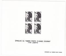 France épreuve Offerte Par La Poste 2220 Liberté De Delacroix  1982 - Luxusentwürfe