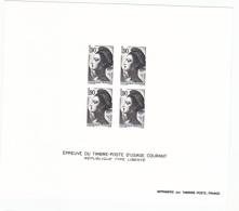 France épreuve Offerte Par La Poste 2424 Liberté De Delacroix  1986 - Luxusentwürfe