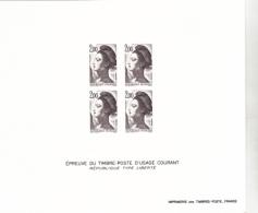 France épreuve Offerte Par La Poste 2274 Liberté De Delacroix  1983 - Luxusentwürfe
